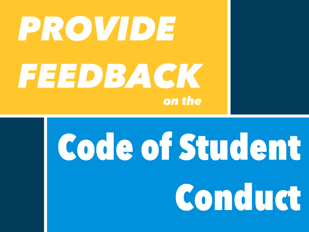 Provide feedback on the code of student conduct
