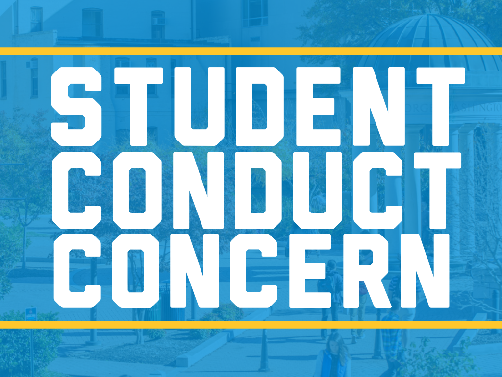 Student conduct concern